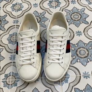 Gucci Men's Ace Leather Sneaker - Size 10.5
